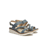 ORWARE-春夏暖心編織帶增高涼鞋651023-07藍