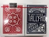 【USPCC 撲克】TALLY-HO 撲克牌  扇紅藍背