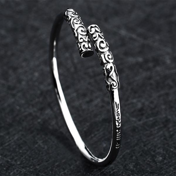 《QBOX 》FASHION 飾品【B10201826】 精緻個性民族風金箍棒定海神針鑄造鈦鋼手鐲/手環