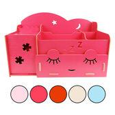 DIY可愛木質化妝桌整理收納盒 乙入 隨機出貨不挑款/色 ◆86小舖◆