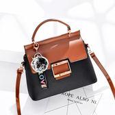手提包 包百搭簡約包包韓版定型拉鏈時尚包斜挎單肩手提包