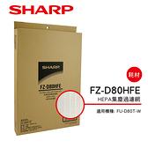 SHARP夏普FU-D80T-W專用HEPA集塵過濾網 FZ-D80HFE