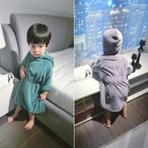 兒童浴袍2020秋冬男童女童居家服浴袍寶寶珊瑚絨兒童款斗篷浴巾新年禮物