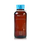 《DURAN/SCHOTT》YOUTILITY 茶色血清試藥瓶GL45 Amber Bottle, Media, Screw Cap, GL45 PP Cap