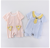 短袖連身衣 嬰兒連體衣夏季薄款純棉T恤可愛套裝短袖兒童男女寶寶男哈衣幼兒新生兒衣服 解憂