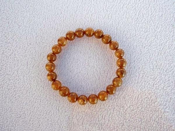 【歡喜心珠寶】【天然巴西維納斯紅鈦晶圓珠8.5mm手鍊】22顆.重20.3g「附保証書」招正財寶石