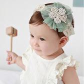 布藝寬蕾絲網紗花朵髮帶 兒童髮飾 可愛公主系 彈性髮帶