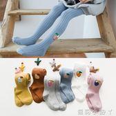 兒童襪子女童連褲女孩公主1-3-5-7歲韓版薄款純棉女寶寶春秋 蘿莉小腳ㄚ