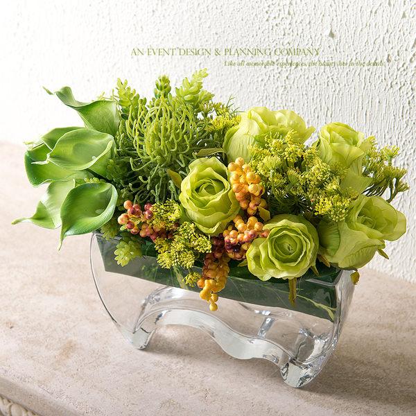模擬花假花 套裝 花藝 客廳餐桌 裝飾花 花瓶花束 -bri02016