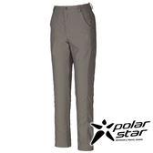 PolarStar 女彈性合身長褲『沙灰』 釣魚褲│露營│防曬褲│西裝褲 P16308
