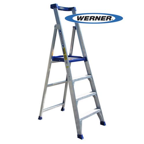 美國Werner穩耐安全梯-P150-4AS AL 鋁合金平台梯 工作平台梯 鋁梯