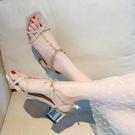 時裝涼鞋年新款夏天波西米亞粗跟露趾百搭高跟鞋仙女風羅馬鞋 【全館免運】
