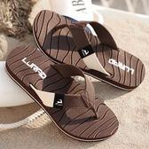 人字拖鞋 夏季涼鞋 防滑透氣沙灘鞋 夾腳休閒鞋【非凡上品】nx1970