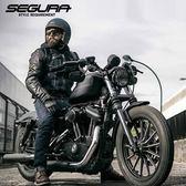 法國segura摩托車騎士服皮衣夾克男 機車服賽車服牛仔衣服【潮男街】