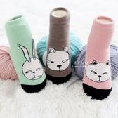 個性動物臉譜止滑短襪 童襪 短襪 印花襪