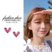 百搭愛心純銀耳釘女氣質韓國個性簡約迷你耳環網紅耳夾冷淡風耳飾