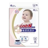 【日本大王GOO.N】境內版敏感肌黏貼型紙尿布M 64片*4串-箱購