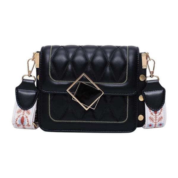 法國小眾高級感斜背包包女包新款網紅小黑包時尚菱格洋氣小包 8號店