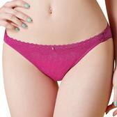 思薇爾-幾何密碼系列M-XXL蕾絲低腰三角內褲(果醬紫)