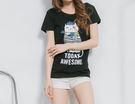 立體貓咪領巾T恤      - ONi ...