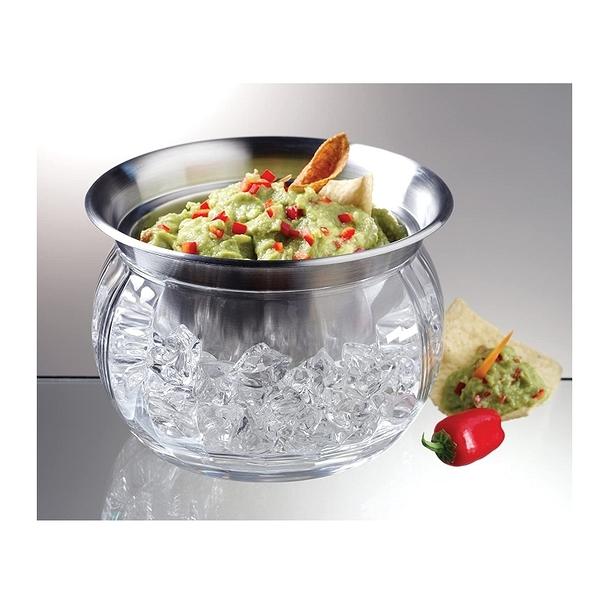 Prodyne 保冰不銹鋼碗 22盎司 沙拉 Iced Dip-On-Ice Stainless-Steel Serving Bowl [2美國直購]