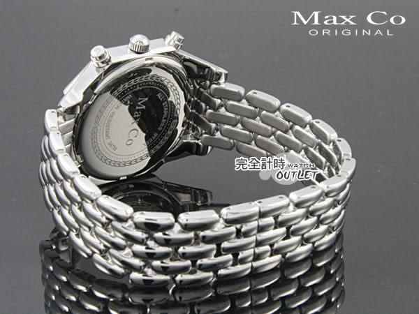 【完全計時】OUTLET手錶館│Max Co│獨特八角三眼計時多功能中性錶 MA4005-B