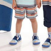 【愛的世界】鬆緊帶橫紋純棉短褲/6歲-台灣製- ★春夏下著