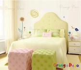 壁貼【橘果設計】手繪小花 DIY組合壁貼/牆貼/壁紙/客廳臥室浴室幼稚園室內設計裝潢