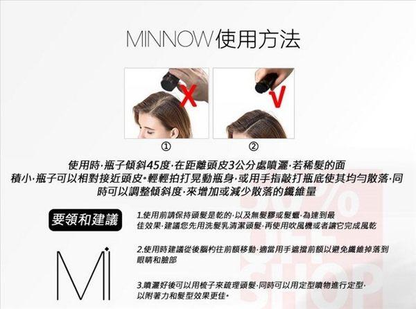 *買一送一*(現貨)魔髮粉 正品公司貨 美國 MINNOW 增髮纖維假髮 25g 長黑髮 生髮 稀髮 禿頭 髮量濃密
