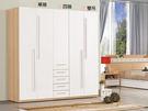 【森可家居】明日香6.6尺組合衣櫃(全組) 7ZX151-8 衣櫥 白色 木紋質感 無印風 北歐風 衣物收納