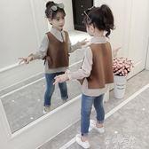 女童洋氣襯衫套裝韓版女孩長袖上衣兒童時尚童裝 蓓娜衣都