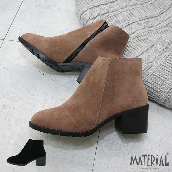 短靴 素面簡約絨布短靴 MA女鞋 T5624