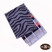 【岱妮蠶絲】純蠶絲保暖刷毛圍巾(藍紅紋格)