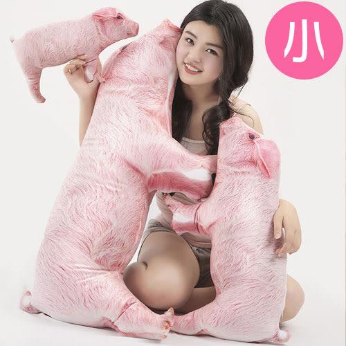 【WS16120615】 可愛創意擬真小豬造型個性抱枕 沙發靠墊 (小)