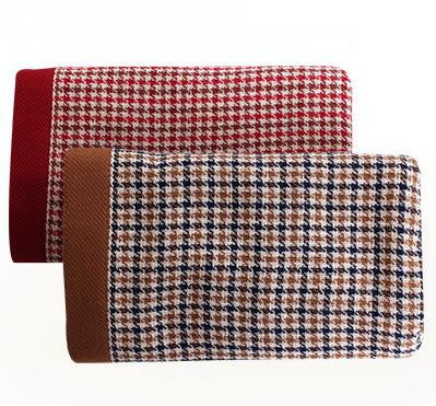 里和Riho LOVEL英倫復古千鳥格雙面棉紗方巾 34x34cm 2色可選 毛巾 哺乳巾 紗布巾