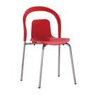 【森可家居】果佗紅色餐椅7ZX889-14現代 塑料 塑膠 超值限量折扣