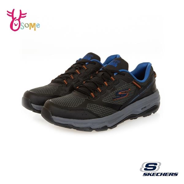 Skechers越野跑鞋 男鞋 GORUN TRAIL ALTITUDE 慢跑鞋 防潑水跑步鞋 輕量運動鞋 記憶鞋墊 V8206#黑藍
