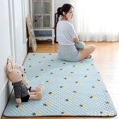 爬行墊 布藝地毯地墊水洗嬰兒紗床邊墊兒童爬爬墊可水洗 nm5853【VIKI菈菈】