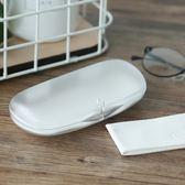 眼鏡盒文藝簡約超輕磨砂半透明吸鐵扣眼鏡盒抗壓耐磨學生眼鏡盒 全館免運