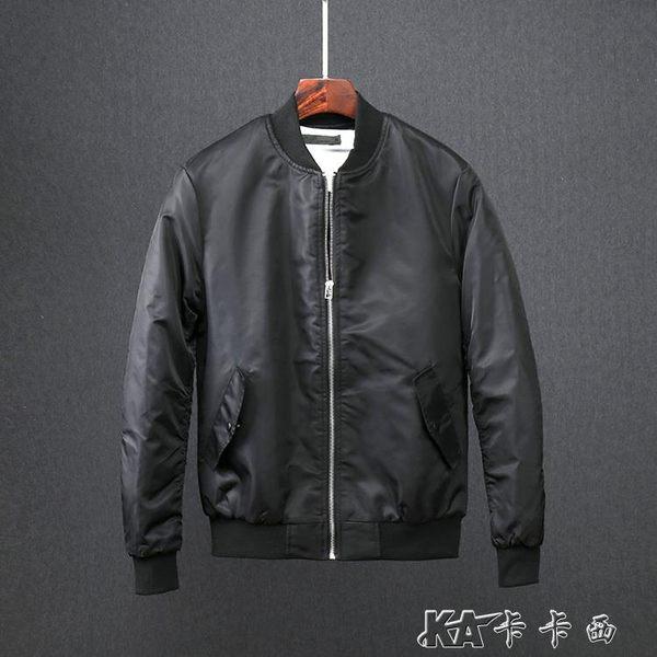 秋冬潮男外套韓版潮流刺繡棒球服夾棉飛行員夾克男短外套 卡卡西
