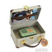 收音機 MW-2A復古綠小王子便攜手機藍芽音箱音響收音機 迷你 創想數位 DF