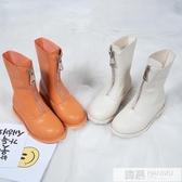 女童靴子2019秋冬新款兒童時尚馬丁靴小女孩中筒加絨皮靴公主單靴 韓慕精品