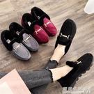 冬季老北京布鞋女鞋 平底加絨豆豆鞋保暖媽媽鞋工作鞋防滑 毛毛鞋  遇見生活