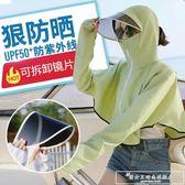 防曬紫外線口罩女夏天季面罩全臉護頸一體薄款透氣冰絲面紗『韓女王』