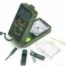 多功能 濕度計 溫度計 口哨 LED手電 取火棒 指南針 指北針工具盒 夢幻小鎮