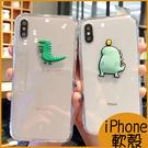 日韓卡通恐龍iPhone8 Plus透明...