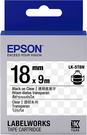 LK-5TBN EPSON 標籤帶 (透明底黑字/18mm) C53S655408