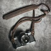 牛皮相機背帶頭層真皮手工復古微單肩帶單反掛繩  YJT