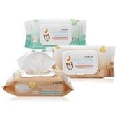 韓國 K MOM 有機自然幼兒濕紙巾(掀蓋柔花款)100張【小三美日】圖案隨機出貨