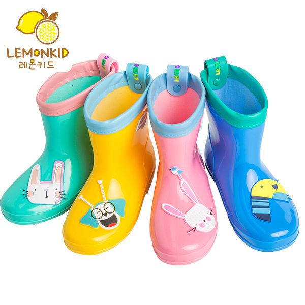 PVC兒童耐磨防水防滑輕便短靴雨鞋 Lemonkid 檸檬寶寶 LE100118